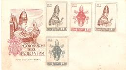 TIMBRE  VATICAN  ENVELOPPE SANS OBLITERATION PAPE PAUL VI PAOLO VI - Covers & Documents
