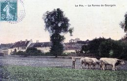 77  LE PIN  LA FERME DE COURGAIN  (CPA COLORISEE) - France