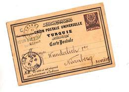 Carte Postale 20 Embleme Cachet Smyrne Nurnberg - 1858-1921 Osmanisches Reich