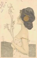 J93 - Illustrateur Raphaël KIRCHNER - Femme Art Nouveau - Le Bouquet De Fleurs - Kirchner, Raphael
