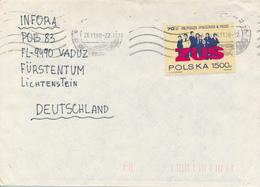 POLEN / POLAND  -  WROCLAW  -  1990  -   70 Jahre Sozialversicherung  -   Brief Nach Vaduz / FL - 1944-.... Republik