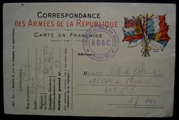 1915 Chefferie Du Génie Des étapes AGAC Secteur 63 Cachet Sur Carte En Franchise Pour Le SP 141 - Postmark Collection (Covers)