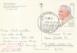 POLEN / POLAND  -  WROCLAW  -  1990  -   70 Geburtstag Johannes Paul II.  -   Karte Nach Worms - 1944-.... Republik