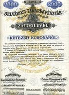 PFANDBRIEF Der INNERSTÄDTISCHEN SPARCASSA Von 1918 - Bank & Insurance