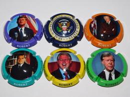Série De 6 Capsules De Champagne - ROBERT JEROME (Présidents Américain) - Collections