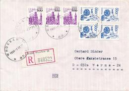 POLEN / POLAND  -  WROCLAW  -  1990  -   Danzig , Kornblume  -   R-Brief Nach Worms - 1944-.... Republik