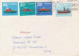POLEN / POLAND  -  WARSZAWA  -  1989  -   Feuerlöschboote -   Brief Nach Wunstorf - 1944-.... Republik