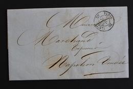 1852 LAC PARIS CAD PORT DÛ 25C 5E /20 POUR NAPOLEON VENDEE CAD ARRIVEE 8 JUILLET 1852.. - 1849-1876: Klassik