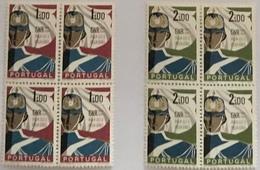"""POR#4210-Complete Set Of 2 Blocks Of 4 MNH Stamps - """"Cinquentenário Da GNR - Guarda Nacional Republicana""""-Portugal-1962 - Blocs-feuillets"""