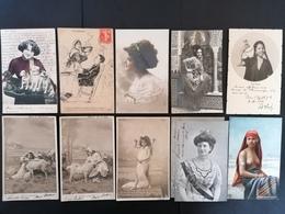 15 Cpa. Fantaisie. Fille. Femmes. Bébés. - Postcards