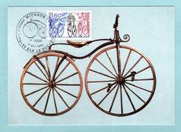 Carte Maximum 1983 - Vélocipède - Ancêtre De La Bicyclette - YT 2290 - 55 Bar Le Duc - 1980-89