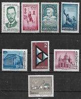 1962 Argentina Vucetich-granaderos-san Juan-arquitectura-fuerza Aerea-correo Diligencia 8v.mint. - Ungebraucht