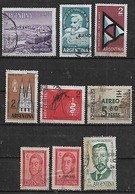 1962 Argentina Vucetich-mar Del Plata-san Juan-arquitectura-fuerza Aerea-paludismo 9v. - Argentina