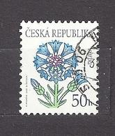 Czech Republic 2003 ⊙ Mi 377 Sc 3220 Flowers: Cornflower, Blumen Tschechische Republikc3 - Tchéquie