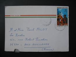 Lettre  Côte D'Ivoire 1976  Pour La France  Cachet Abidjan  TP Littérature Pour Enfants - Ivory Coast (1960-...)