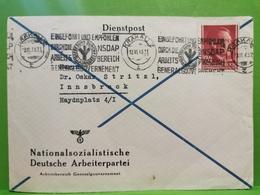 Pologne , Nationalsozialische Deutsche Arbeiterpartei, Oblitéré Krakau 2    1943 Sended To Gen. Gouv. - 1939-44: World War Two