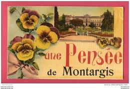 CPA (Réf : U 857)Une Pensée De  MONTARGIS  (45 LOIRET) - Montargis