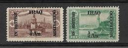 Iraq, British Occupation 1918, 1/4 & 1/2 An, MH, Mi 1-2. - Iraq
