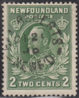 Newfoundland 1932-37 Used Sc #186 Bay Roberts, Newf'd DE 21 ? Split Circle - 1908-1947