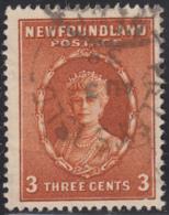 Newfoundland 1932-37 Used Sc #187 Pilley's Isld, Newf'd AU 3 38 Split Circle - 1908-1947