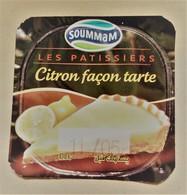 """Opercule Cover Yaourt Yogurt """" TARTE """" D'Algérie ETIQUETTE DE YAOURT SOUMMAM CITRON FACON TARTE - Milk Tops (Milk Lids)"""