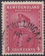 Newfoundland 1932-37 Used Sc #189 Twillingate, Newf'd NO 2 3? Split Circle - 1908-1947