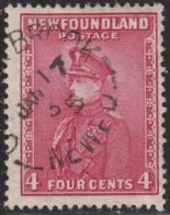 Newfoundland 1932-37 Used Sc #189 Corner Brook, Newf'd JAN 17 35 Split Circle - 1908-1947