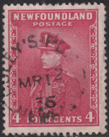 Newfoundland 1932-37 Used Sc #189 Coley's Point, Newf'd MR 12 36 Split Circle - 1908-1947