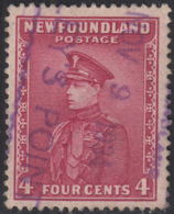 Newfoundland 1932-37 Used Sc #189 Coley's Point, Newf'd NOV 9 1934 Box Cancel - 1908-1947