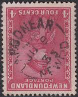 Newfoundland 1932-37 Used Sc #189 Carbonear, Newf'd JU 9 35 Split Circle - 1908-1947