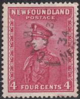 Newfoundland 1932-37 Used Sc #189 Carbonear, Newf'd JU 30 34 Split Circle - 1908-1947