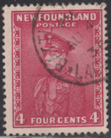 Newfoundland 1932-37 Used Sc #189 Battle Harbour, Labrador AU 4 36 Small Circle - 1908-1947