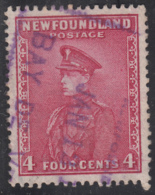Newfoundland 1932-37 Used Sc #189 Bay De Verte, Newf'd JAN 12 ? Box Cancel - 1908-1947