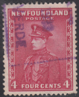 Newfoundland 1932-37 Used Sc #189 Bay De Verte, Newf'd 1923 Box Cancel - 1908-1947