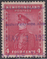 Newfoundland 1932-37 Used Sc #189 Bay De Verte, Newf'd May 1 19? Box Cancel - 1908-1947
