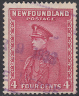 Newfoundland 1932-37 Used Sc #189 Bay De Verte, Newf'd ? 9 1933 Box Cancel - 1908-1947