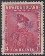 Newfoundland 1932-37 Used Sc #189 Bay De Verte, Newf'd JUL 10 19? Box Cancel - 1908-1947