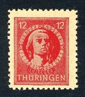 SBZ Thüringen MiNr. 95 A X Ba V Postfrisch MNH Fotoattest Ströh (MA973 - Zona Sovietica