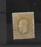 België N° 32  X Scharnier  Cote 230 Euro - 1869-1883 Leopold II