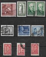 1961 Argentina Sarmiento-Belgrano-Moreno-antartida-exportar-visita Presidente De Italia 10v. - Argentina