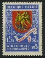 [A1231] België 544-V1 ** - Kring Op 1940  - Cercle Sur 1940 - Variétés (Catalogue COB)