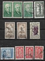 1961 Argentina Sarmiento-Moreno-Tagore-visita Presidente De Italia-San Martin-girasol 11v. - Argentina