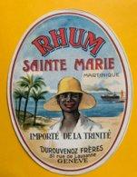 14157 - Rhum Sainte Marie Martinique Importé De La Trinité Durouvenoz Frères Genève - Rhum