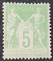 Sage N° 102 Neuf ** Gomme D'Origine, Bon Centrage  TTB - 1898-1900 Sage (Tipo III)