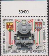 """Österreich 1979: """" 100 Jahre Raab-Ödenburg-Ebenfurter Eisenbahnen Postfrisch (s. Foto)) - 1971-80 Nuevos & Fijasellos"""