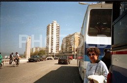 80s FIAT 127 BUS FIGUEIRA DA FOZ PORTUGAL AMATEUR 35mm ORIGINAL NEGATIVE Not PHOTO No FOTO - Fotografia
