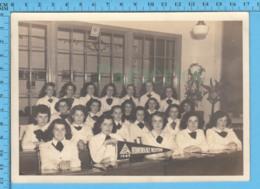 Grande Photo - Magog Quebec - Couvent Sacré-coeur 1947, Jeune Femmes Identifiées Les Noms En Arrière - Photos
