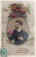CPA   37   DE LUYNES RECEVEZ CES FLEURS ET MES AMITIES---1907 - Luynes
