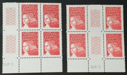 Mariane N° 3417 X8  Neuf ** En Bloc De 4/Paire  TTB - 1997-04 Marianna Del 14 Luglio