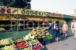 80s OGORKI MARKET POLAND AMATEUR 35mm ORIGINAL NEGATIVE Not PHOTO No FOTO - Fotografia
